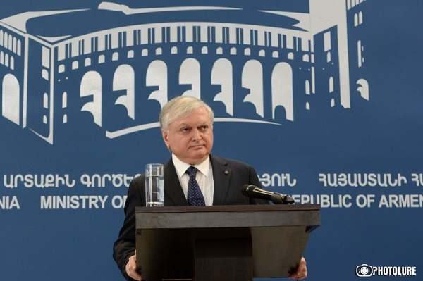 Armenia's Foreign Minister Edward Nalbandian at a press conference in Yerevan. Jan. 26, 2015. (Photo: Photolure)