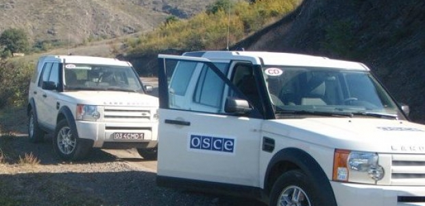 An undated photo of OSCE vehicles somewhere along the Artsakh-Azeri border