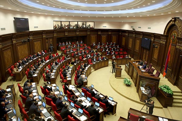 Armenia's National Assembly in session