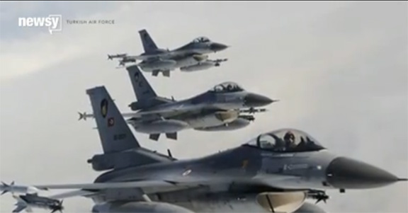 Turkish war planes that were used to attack Kurds