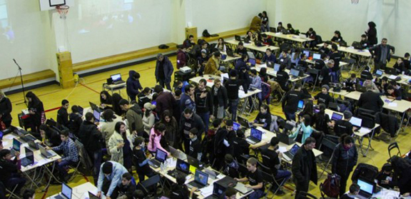 Over 200 participants at the Hour of Code Event (Source: Public Radio of Armenia)
