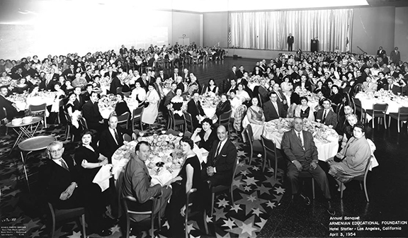 Annual Banquet, Armenian Educational Foundation, Hotel Statler – Los Angeles, California, April 3, 1954