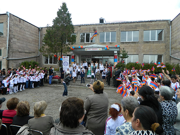 Opening of Renovated School in Darbas Village (Lori) in October 2014
