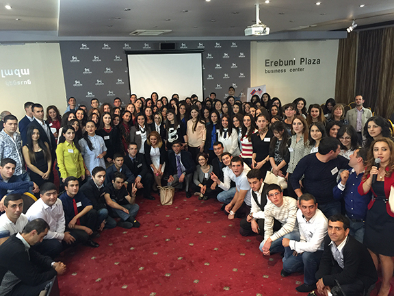 Reception for Graduates and Recipients of Scholarship Program in Yerevan, October 2015
