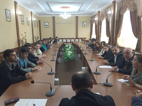 Computer Information System Department meeting with AEF Representatives at Stepanakert University, October 2015