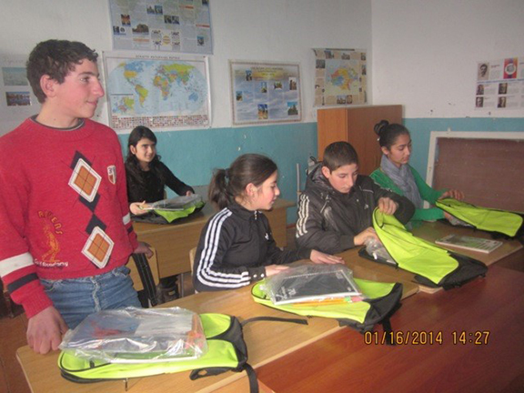 AEF School Supplies delivered to Artsakh Students, January 2014