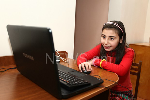 9 -Year-old Anushik Melkonyan. (Source: News.am)