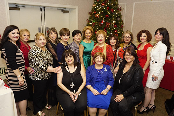 "ARS Fresno ""Sophia"" Chapter members at their Christmas luncheon."