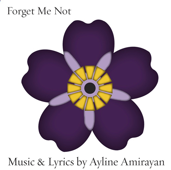 "Ayline Amirayan's ""Forget Me Not"" CD Cover"