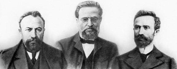 Founders off the Armenian RevolutionaryvFederation,   Stepan Zorian, Kristapor Mikaelian, and Simon Zavarian