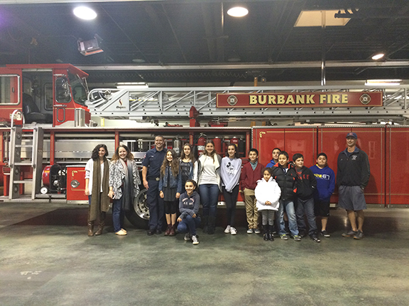 The Burbank Juniors at the Fire Department.
