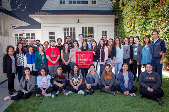 Participants of the USC Institute of Armenian Studies Undergraduate Retreat.