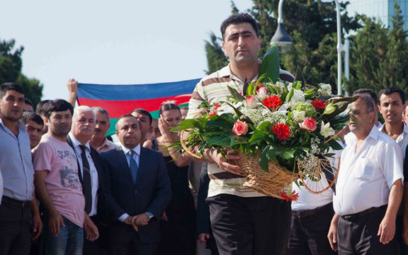 Axe-murderer Ramil Safarov being honored in Azerbaijan after his release from a Hungarian jail