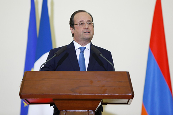 French President Francois Hollande. (Source: Public Radio of Armenia)