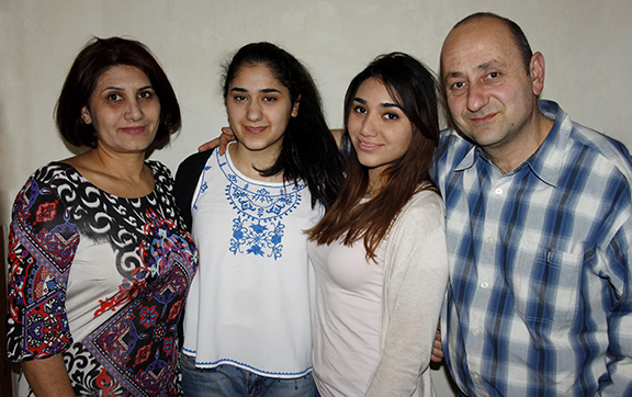 Rita Keshishian with the rest of her family.