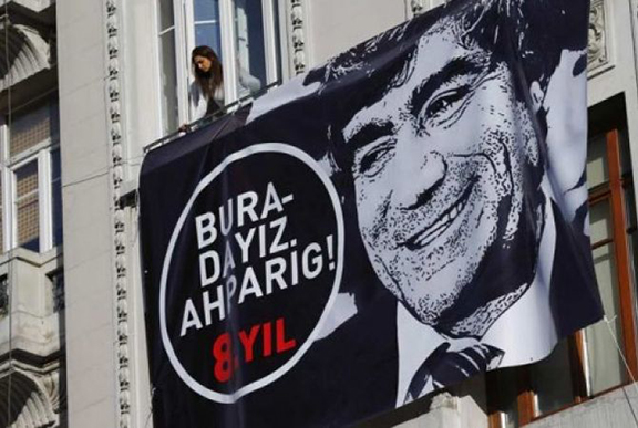 Protest banner in Istanbul. (Source: Armenpress)
