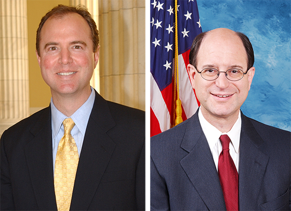 Representatives Adam Schiff (left) and Brad Sherman