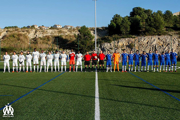 Members of Western Armenia and Olympique de Marseille (Source: Olympique de Marseille)