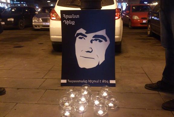 Candelight vigil in Yerevan for Hrant Dink. (Source: Armenpress)