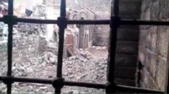 Images show the extent of damage to the Surp Sarkis Armenian Catholic Church