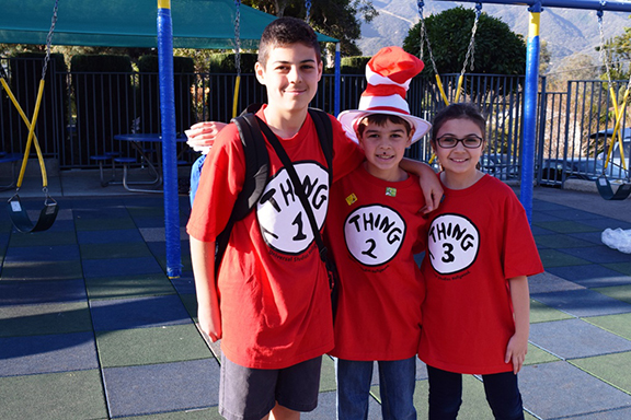 Chamlian students excited for Read Across America Day.