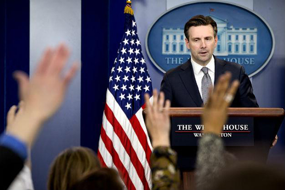Spokesman Josh Earnest (Source: AP Photo)