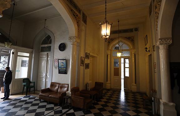 The lobby of the hotel. (Source:  Joseph EID/AFP)
