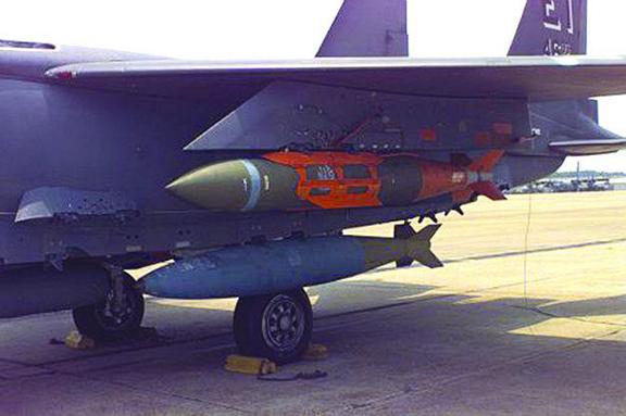 BLU-109 bunker-busting bombs. (Source: Hurriyet Daily News)