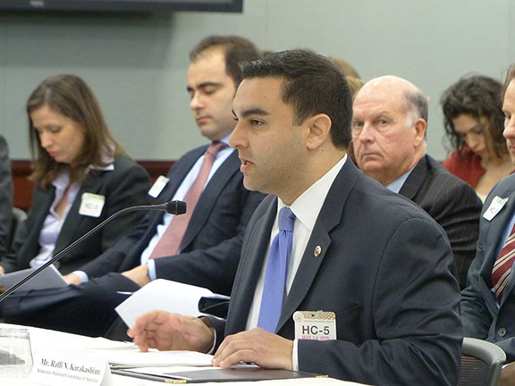 ANCA Legislative Affairs Director Raffi Karakashian