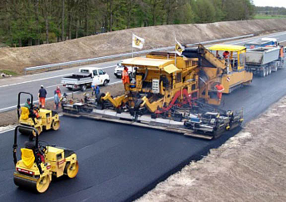Road construction taking place.