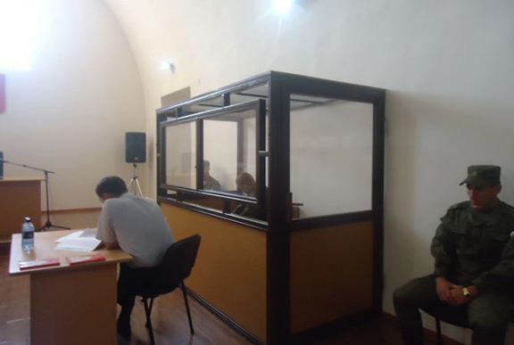 Valery Permyakov during trial. (Source: Armenpress)