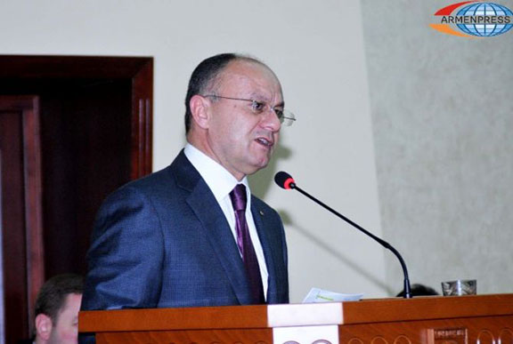 Armenian Defense Minister Seyran Ohanian. (Source: Armenpress)