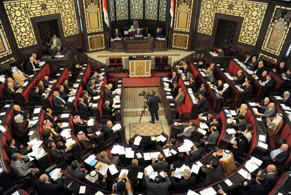 The Syrian parliament. (Source: Public Radio of Armenia)