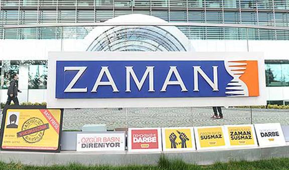 The entrance of Zaman headquarters. (Source: Today's Zaman, Selahattin Sevi)