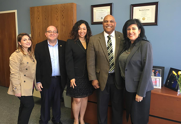 Board members met with Glendale Unified School District Superintendent Winfred Roberson and Assistant Superintendent Dr. Jacqueline Perez