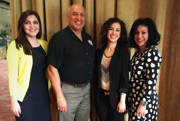 ANCA-Nevada and ANCA-WR with Councilmember Anthony from left: ANCA-WR Executive Director Elen Asatryan, Councilmember Stavros Anthony, ANCA-Nevada Chair Hera Armenian, ANCA-WR Board Member Anahid Oshagan.