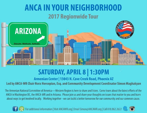 'ANCA in Your Neighborhood' to visit Phoenix, Arizona on April 8, 2017