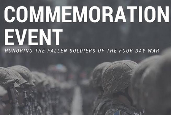 The Armenian Youth Federation will hold a commemorative evening on Sunday, April 2 at 6pm to honor the fallen heroes of the Four Day War with Azerbaijan on the first anniversary of the conflict.
