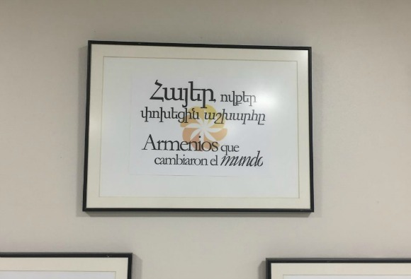 "'It was refreshing to see quotes from Karekin Nejdeh and Zabel Yessayan under a sign that reads 'Armenians Who Changed the World.""(Photo: Ani Khachatourian)"
