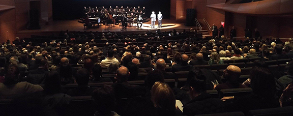 Armenian Foreign Minister Edward Nalbandian delivers his message to the audience at concert marking 25th anniversary Armenia joining the United Nations (Photo: Ministry of Foreign Affairs of Armenia)