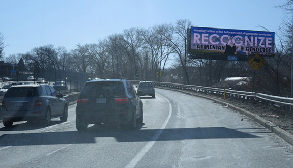 Highway view of billboard (Photo: Peace of Art)