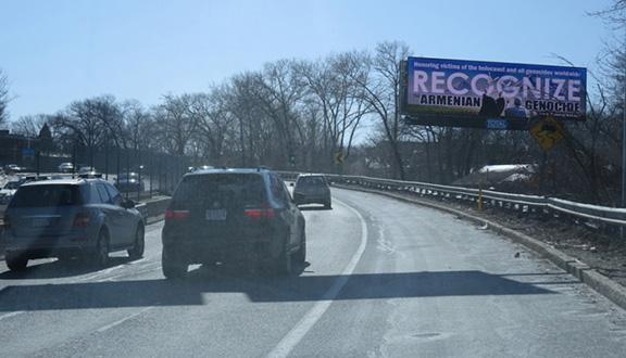 Highway view of billboard (Photo: Peace of Art)