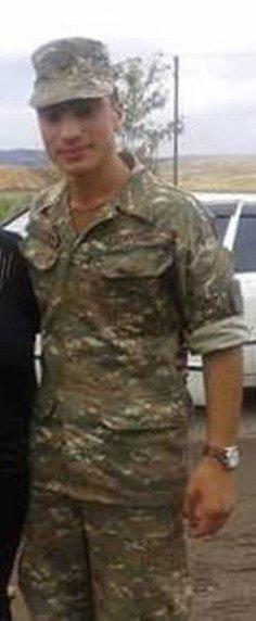Armenian serviceman Artak Rafaelyan, born in 1997