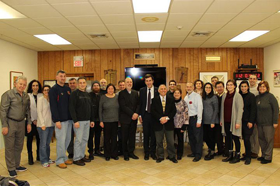 Artsakh Republic Ombudsman Ruben Melikyan with Rhode Island Armenian community members