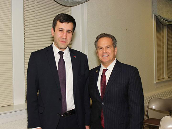 Artsakh Republic Ombudsman Ruben Melikyan with U.S. House Foreign Affairs Committee member Rep. David Cicilline (D-RI)