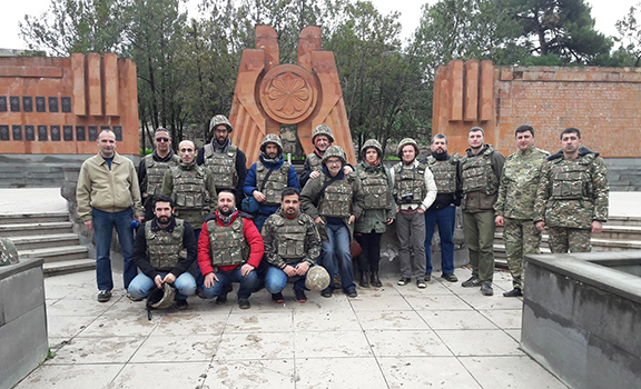 Participants of the International Forum of Bloggers held in Stepanakert visited the frontlines of Talish on March 21, 2017 (Photo: Artak Beglaryan/Facebook)
