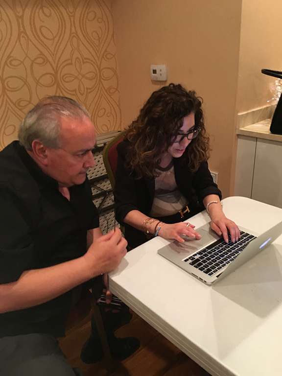 ANCA-Nevada Co-Chair Hera Armenian registers voters after townhall