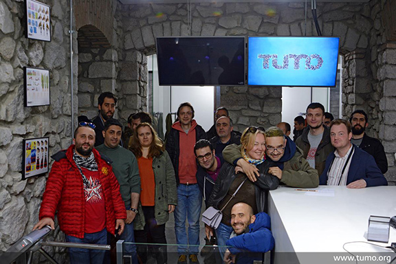 Bloggers visit TUMO Stepanakert (Photo: TUMO Center for Creative Technologies)