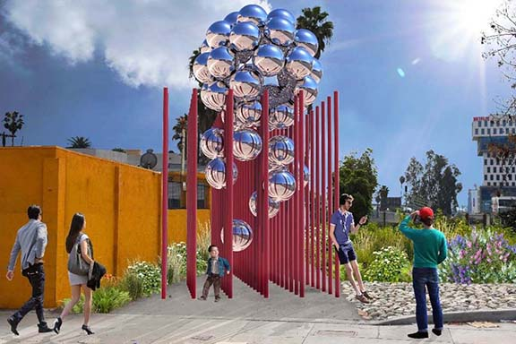 Cliff Garten's pomegranate-inspired proposal for the gateway. (Cliff Garten Studio)