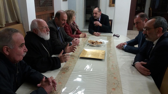 Foreign Minister Mirzoyan meets with Armenian National Prelacy of Greece and members of the Armenian National Administration of Greece (Photo: Ministry of Foreign Affairs of the Artsakh Republic)